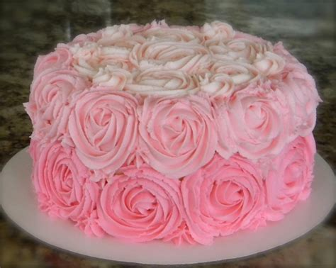 red roses pink ombre cake pink ombre rose swirl cake my sweet creations pinterest