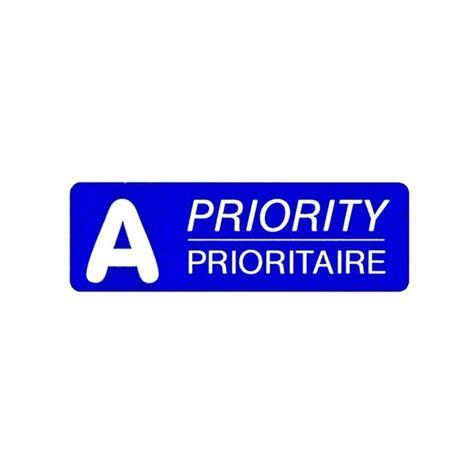 Post Etiketten by Post Etiketten A Prioritaire A Post 45x15 Mm Blau D