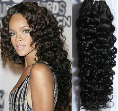 curly hair extensions 16 quot sewn curly human hair wefts color 1 1b