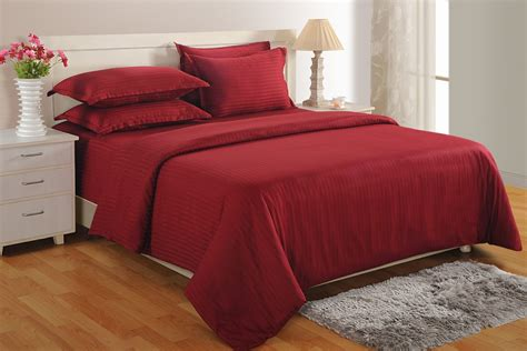 Maroon Bed Covers Buy Maroon 300 Tc Cotton Duvet Cover At Shopping