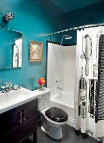 Black And White And Teal Bathroom Ideas by Accent Colors Black And White Bathroom Pinterest