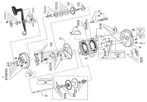 abu garcia parts diagrams abu garcia 6501 tc parts list and diagram 15 00