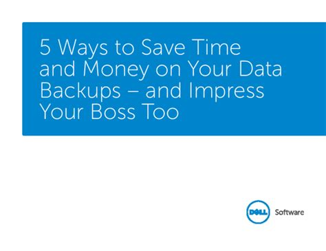 7 Ways To Your Money Big Time by 5 Ways To Save Time And Money On Your Data Backups
