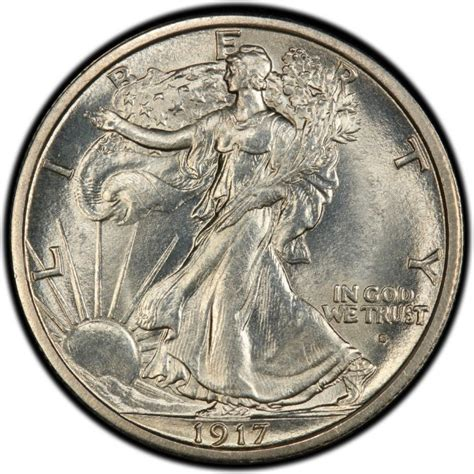 1917 walking liberty half dollar values and prices past