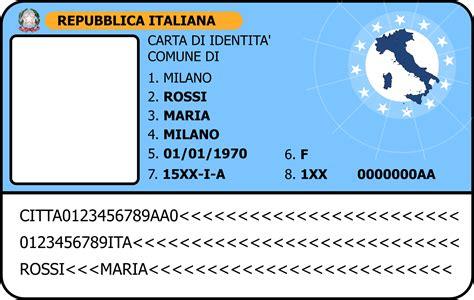 italian id card template clipart carta d identit 224 id card