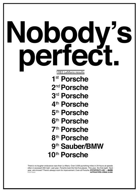 porsche poster everybody wants one quot nobody s perfect quot porsche poster recreated in hd porsche