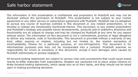 Mulesoft Corporate Template Final Safe Harbor Statement Template