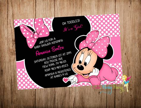 minnie mouse baby shower invitations templates minnie mouse baby shower invitations free templates