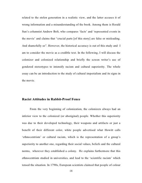 Racist Attitudes In Rabbit Proof Fence Fencing Business Plan Template