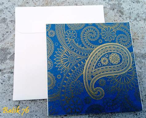 Jual Kartu Ucapan Wedding by Jual Kartu Ucapan Handmade Batik76 Motif Paisley Biru Size