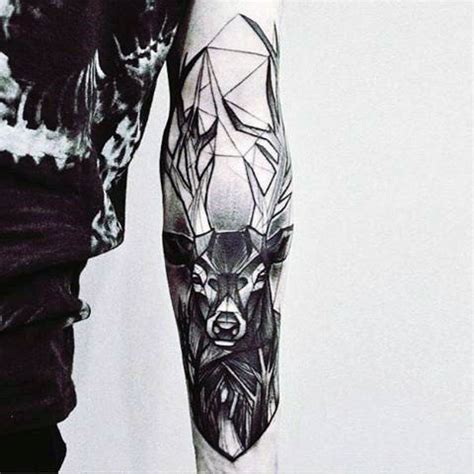abstract tattoo for men 90 deer tattoos for manly outdoor designs
