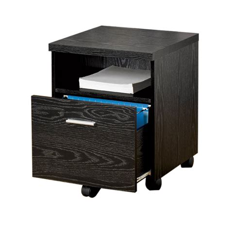 one drawer file cabinet shop coaster furniture black 1 drawer file cabinet at