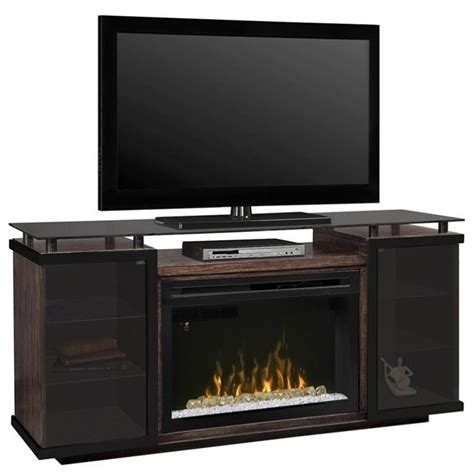 dimplex aiden electric fireplace tv stand with acrylic in
