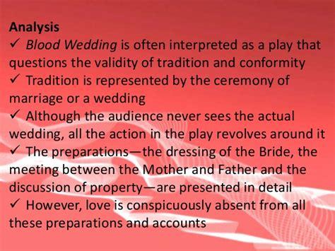 blood wedding full text blood wedding act 2 analysis