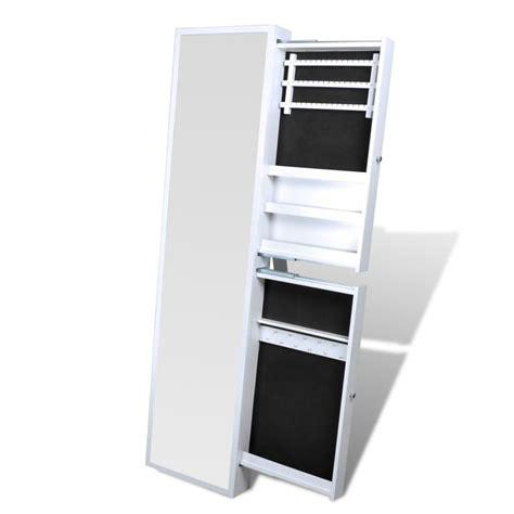 specchio con cassetti specchio portagioielli con cassetti laterali bianco