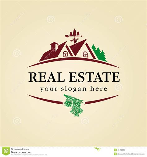 house of woods real estate real estate logo wood stock vector image 43452365