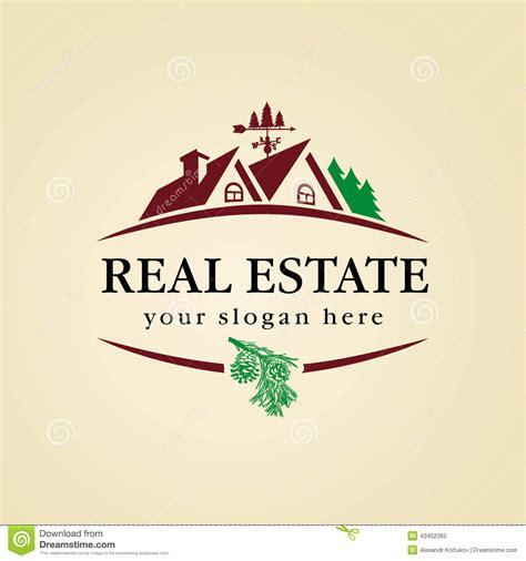 Real Estate Logo Wood Stock Vector Image 43452365