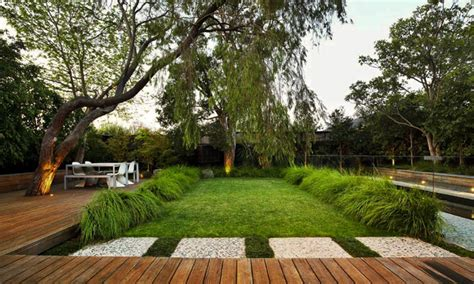 modern backyard contemporary garden design by eckersley garden