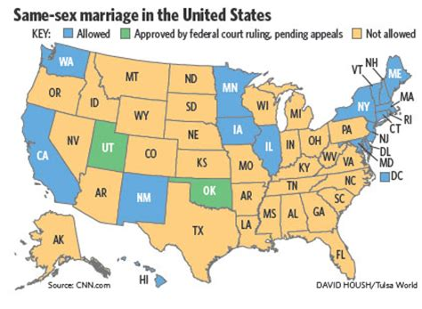 same marriage united states map oklahoma marriage ban ruled unconstitutional