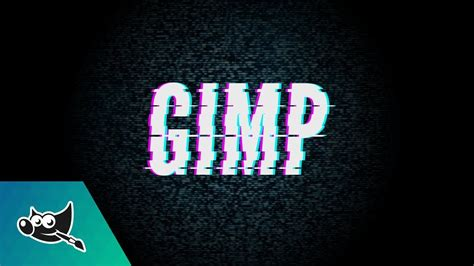 gimp tutorial lettering gimp tutorial glitch text effect youtube