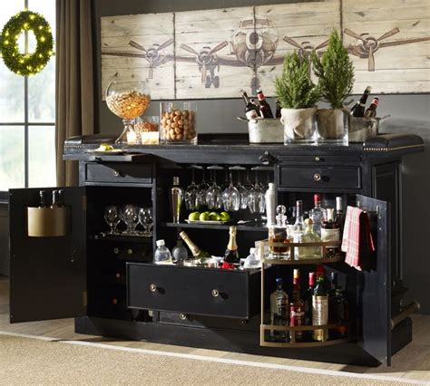 pottery barn liquor cabinet pottery barn bar with nuts in glass jars jpg 710 215 639