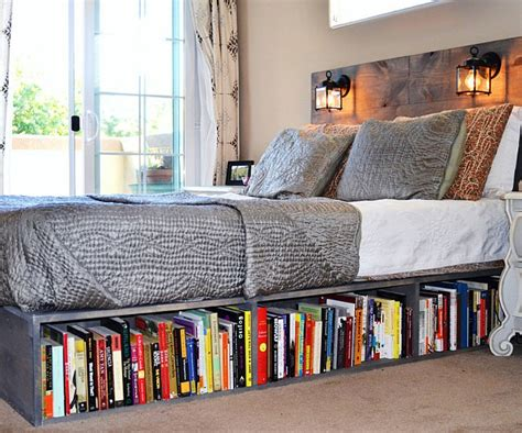 bookshelf bed frame bed frame with bookshelf