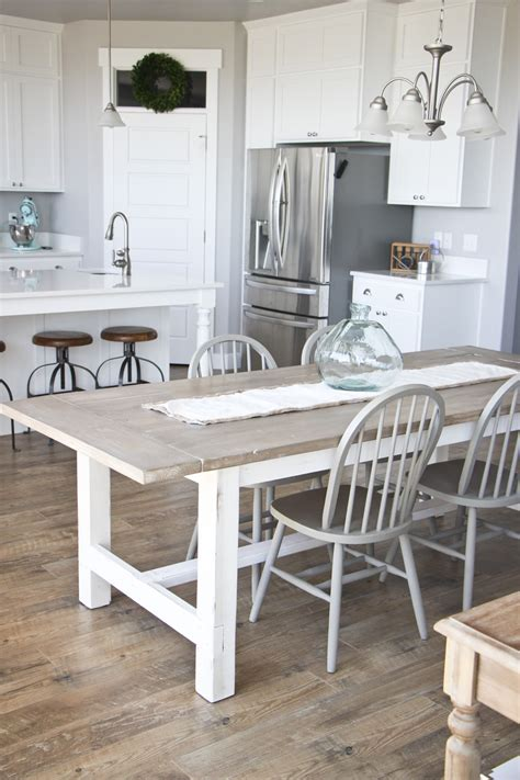 farmhouse dining table and bench diy farmhouse table and bench honeybear lane