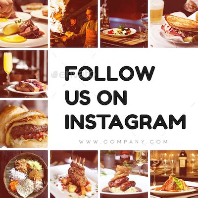 17 Best Restaurant Instagram Templates Free Premium Templates Follow Us On Instagram And Template