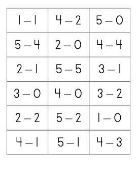 printable flashcards for subtraction free subtraction within 5 flash cards elementary math