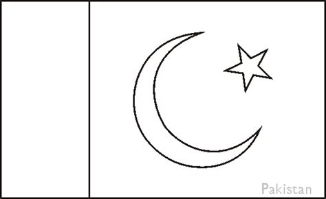 Pakistan Flag Coloring Page pakistan flag coloring pages