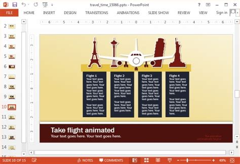 powerpoint layout travel animated travel powerpoint template