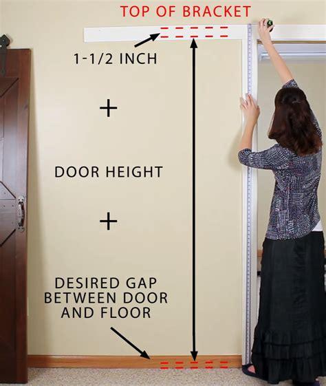 How To Measure Interior Door by How To Install Interior Rolling Barn Door Rail Cs Hardware