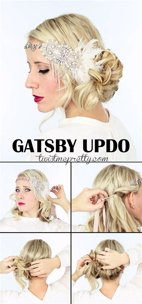 how to do easy 1920s hairstyles for mid hair with fringe 2 gorgeous gatsby hairstyles for halloween or a wedding