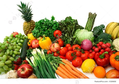 food colorful vegetables and fruits stock image