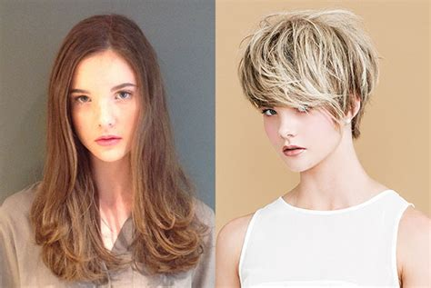 before and after long to short hair short hair inspiration and an incredible transformation