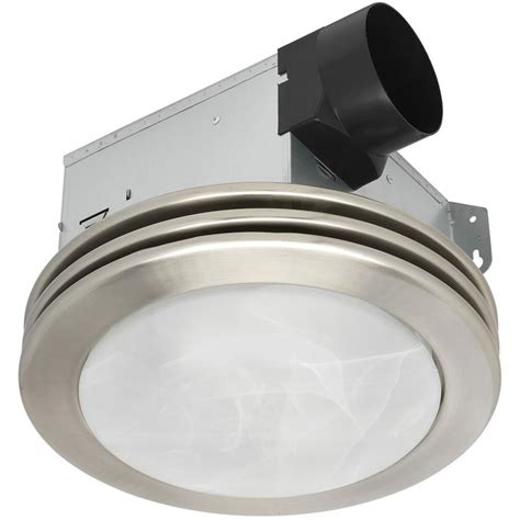 Shop Utilitech 2 Sone 80 Cfm Brushed Nickel Bathroom Fan Lighted Bathroom Exhaust Fans
