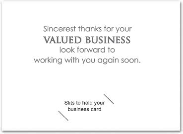 thank you card real images of thank you for your business