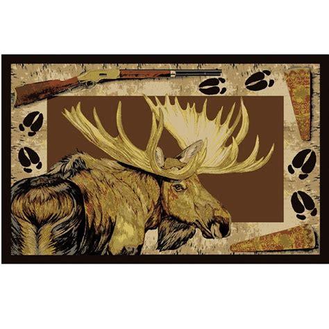 moose area rugs moose call area rug
