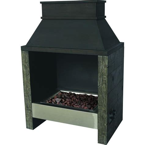 Outdoor Steel Fireplace by Bond Manufacturing 49 In Ocala Outdoor Steel Gas