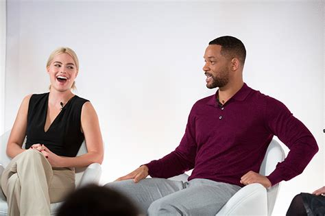 film romance will smith will smith and margot robbie discuss new heist film focus