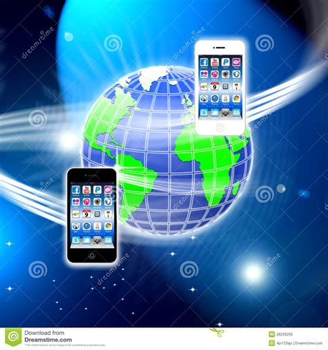 mobile wireless network apps on a secure mobile wireless network editorial image