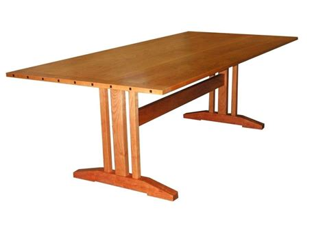 Modern Trestle Dining Table Custom Contemporary Trestle Table By William Laberge Cabinetmaker Custommade