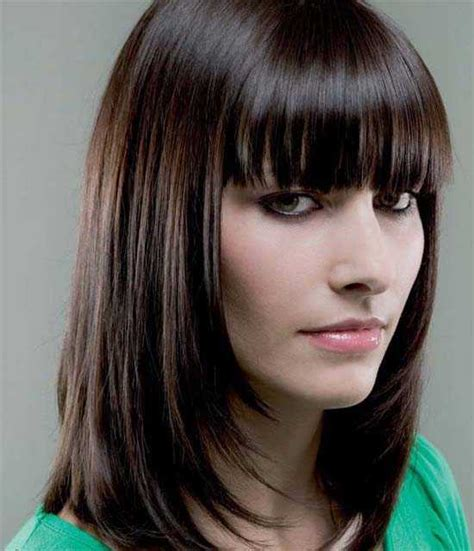 fringes for long faces charming hairstyles for long faces women
