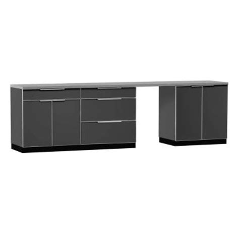 outdoor kitchen cabinets home depot newage products aluminum slate 5 piece 120x360x24 in