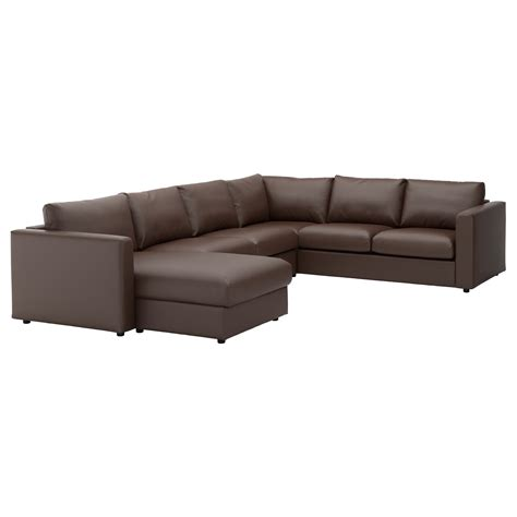 sofa 3 lugares chaise vimle corner sofa 5 seat with chaise longue farsta dark