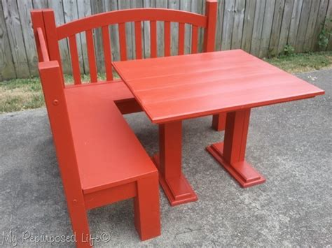 kids bench and table diy kids corner bench banquette my repurposed life
