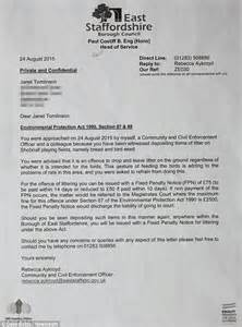 Complaint Letter Littering East Staffordshire Council Threatens Pensioner With 163 2 5k Littering