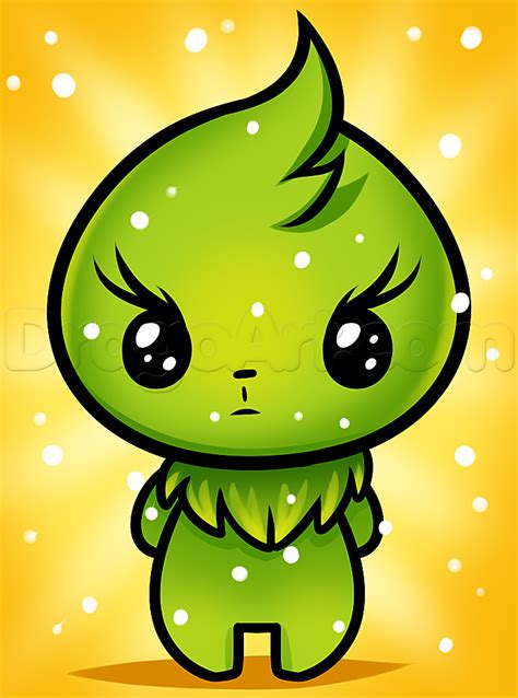 Drawing Kawaii by How To Draw Kawaii Grinch Step By Step Characters Pop