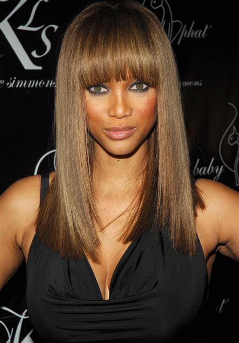 tyra banks with fringe bangs short hairstyle 2013 find the perfect fringe for your face shape women hairstyles