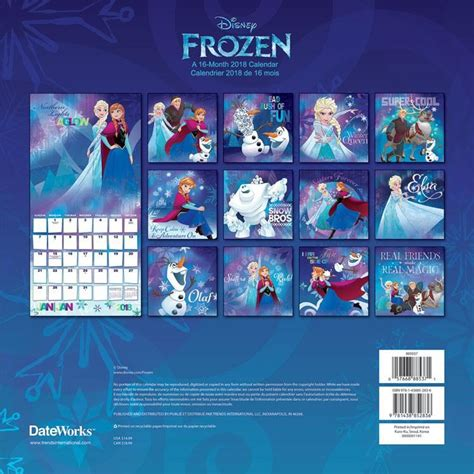 2018 disney frozen wall calendar mead 9781438852836 disney frozen 2018 wall calendar trends